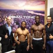 Athletes Axel et Levi et leurs coach urban tonic